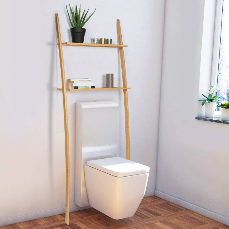 "IDMarket ""Etagère dessus WC bambou Maya"""