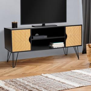 IDMarket Meuble TV vintage LEONI motifs graphiques - Publicité
