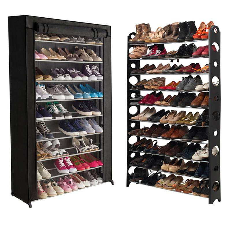 """ProBache """"Etagère range chaussures 50 paires modulable+housse noire"""""""