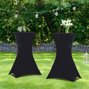 """IDMarket """"Lot de 2 tables hautes 105 cm pliantes + 2 housses noires"""" - Publicité"""