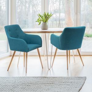 "IDMarket ""Lot de 2 fauteuils DANIA bleu canard"" - Publicité"