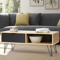 IDMarket Table basse vintage NOEMI bois pied épingle <br /><b>54.99 EUR</b> IDMarket.com