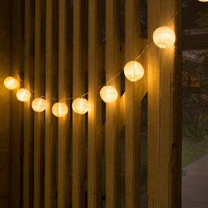 """IDMarket """"Guirlande solaire extérieure 280 cm 10 lanternes LED"""" - Publicité"""