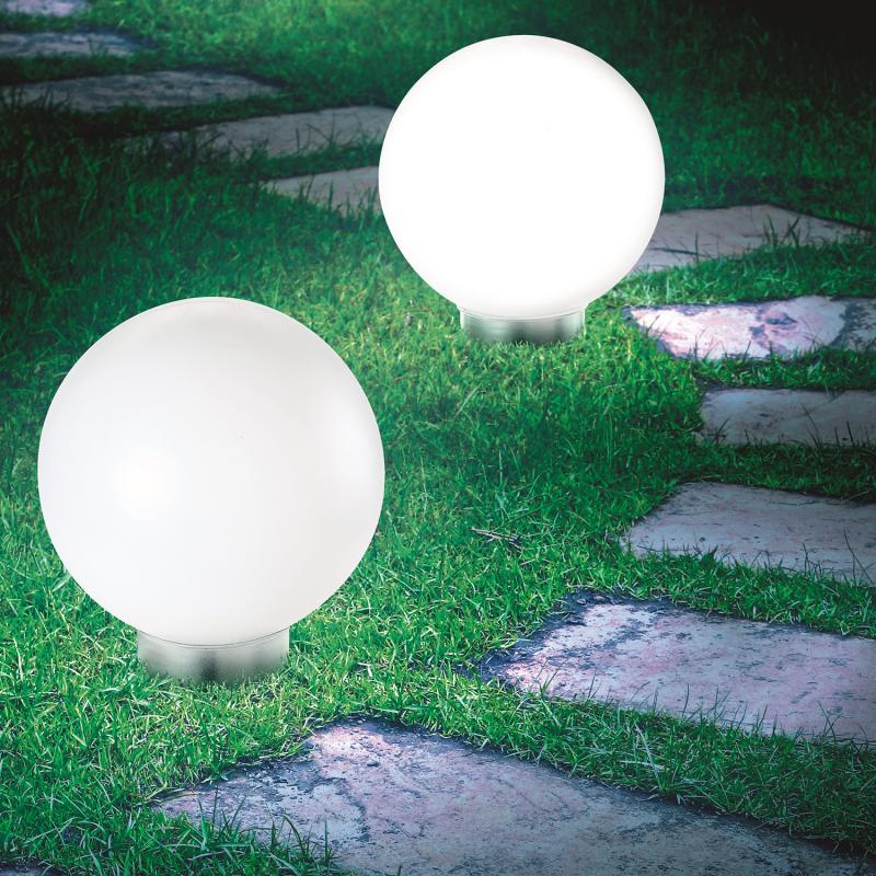 """IDMarket """"Lot de 2 lampes boules 20 CM LED solaires"""""""