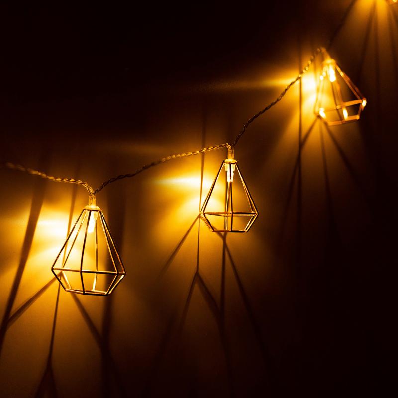 """IDMarket """"Guirlande 10 lanternes solaires pour jardin"""""""