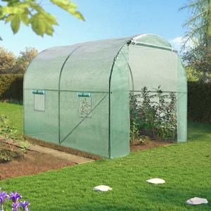 IDMarket Serre tunnel de jardin 6M² verte gamme maraichère ROMA 2x3M - Publicité