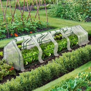 IDMarket Serre châssis blanche de jardin spéciale forçage 3M - Publicité