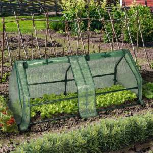 IDMarket Châssis serre de jardin 120 cm vert - Publicité