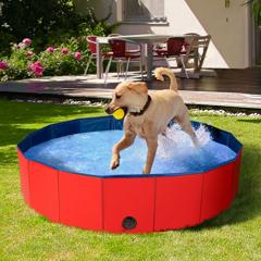 IDMarket Piscine pliable XXL pour chien baignoire 120 x 30 CM