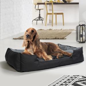 """IDMarket """"Coussin XXL imperméable pour chien 120 x 90 cm panier lit rembourré"""" - Publicité"""