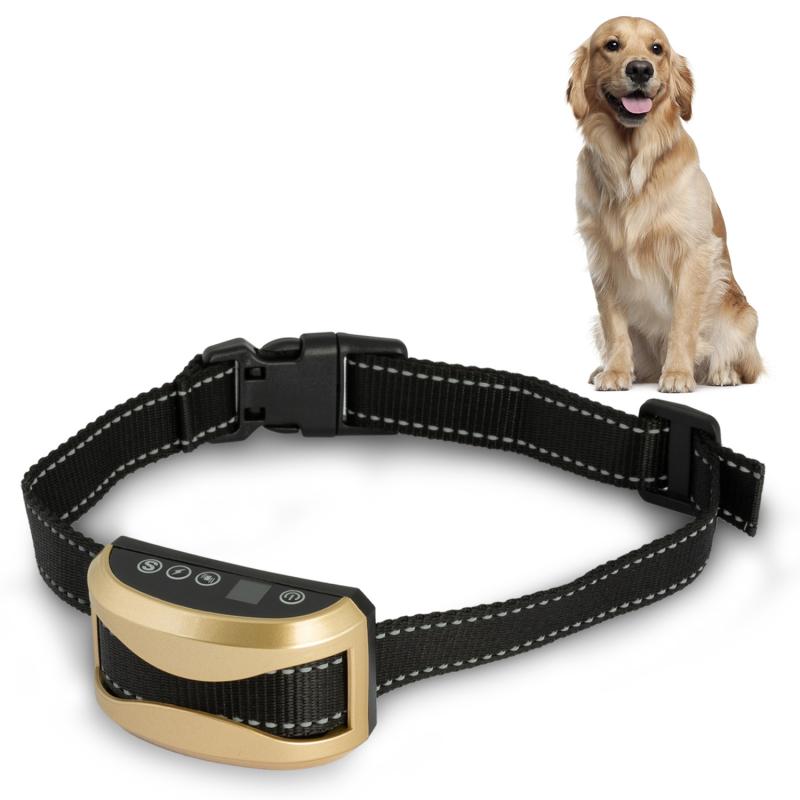 """IDMarket """"Collier anti aboiement pour chien 3 modes son, vibration et choc boîtier rechargeable"""""""