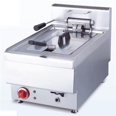 AFI Friteuse électrique simple 12,5 litres avec vidange Haut rendement JUS-TEF-1