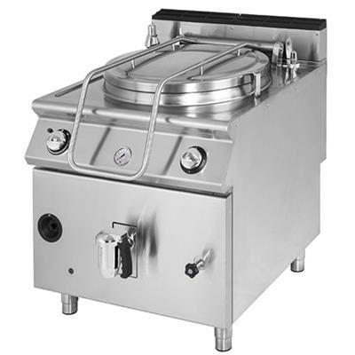 VIRTUS Marmite professionnelle à gaz 50 litres, chauffage direct, Série 700