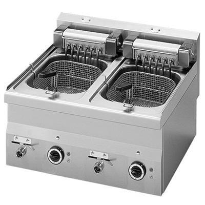 MASTRO Friteuse électrique Gros débit 2x10 litres 15 kW 6060FRE