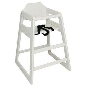 BOLERO Chaise haute en hévéa finition laquée blanc - Publicité