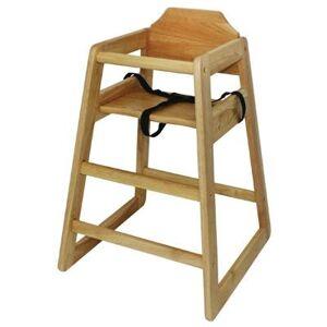 BOLERO Chaise haute en hévéa finition bois naturel - Publicité