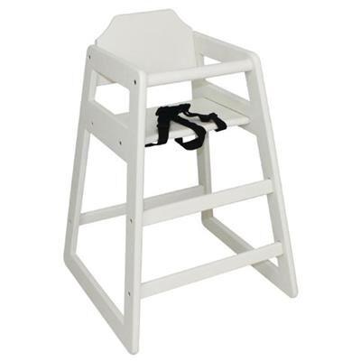 BOLERO Chaise haute en hévéa finition laquée blanc