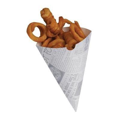 COLPAC Cornet à frites biodégradables en papier imprimé - x 1000
