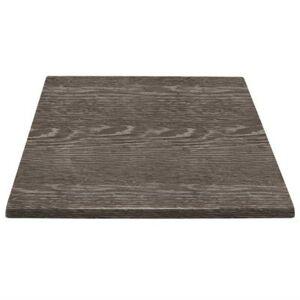 BOLERO Plateau de table carré Bolero effet bois vieilli 700mm - Publicité