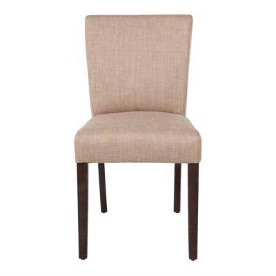 BOLERO Chaise contemporaine Bolero en toile de jute écrue lot de 2