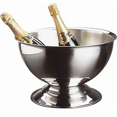 QDM Seau à champagne en Inox poli