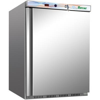 FORCAR Armoire congelateur revêtement inox 200 litres