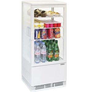 CASSELIN Mini vitrine réfrigérée positive 78L Blanche - Publicité