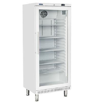 COOLHEAD Armoire pâtissière réfrigéré positive ABS blanc 400 litres 1 porte vitrée