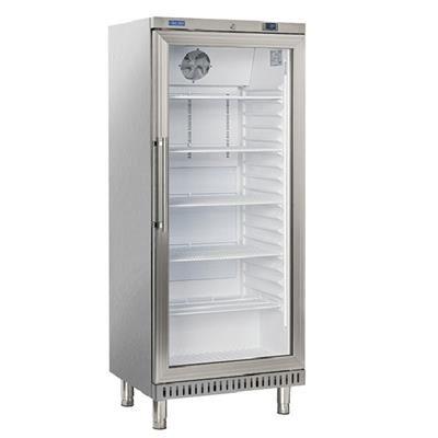 COOLHEAD Armoire pâtissière réfrigéré positive ABS inox 400 litres 1 porte vitrée