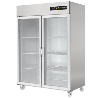 TECHNITALIA Armoire réfrigérée positive inox 1400 litres GN 2/1 - 2 portes vitrées