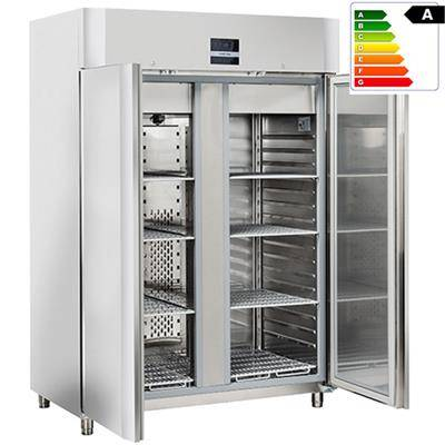 COOLHEAD Armoire réfrigérée tropicalisée inox GN 2/1 1105 litres - 2 portes