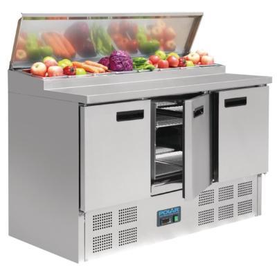 POLAR Comptoir de préparation réfrigéré pizzas et salades Polar Série G 390L