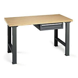 Établi d'atelier en bois avec bloc-tiroir