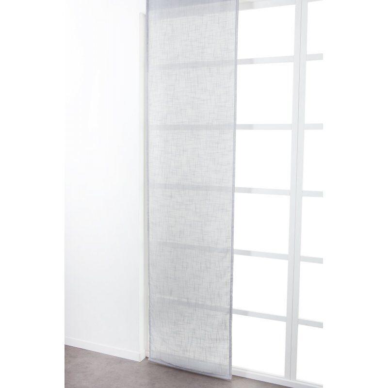 Panneau Japonais 60 x 300 cm à Scratch Grande Hauteur Effet Lin Uni Gris