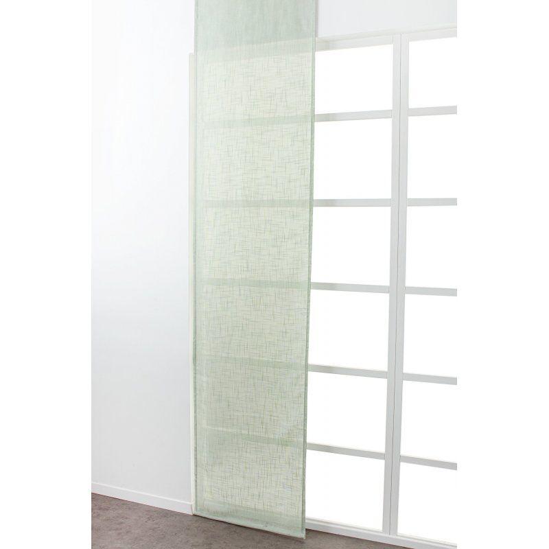 Panneau Japonais 60 x 300 cm à Scratch Grande Hauteur Effet Lin Uni Vert d'Eau
