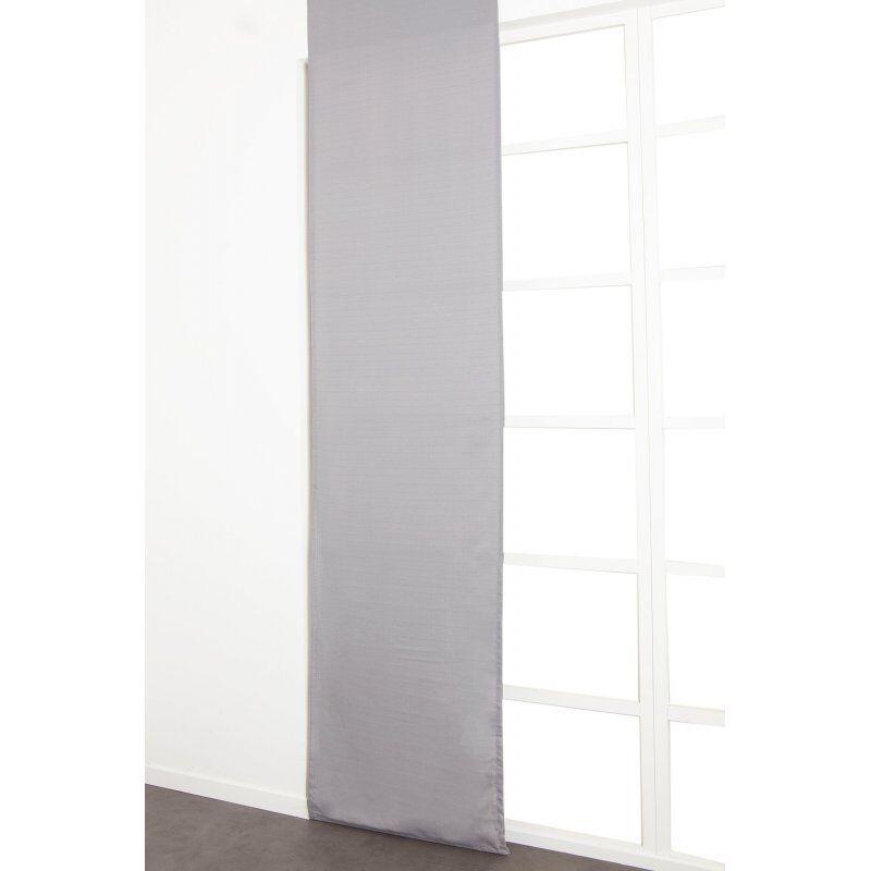 Panneau Japonnais 60 x 300 cm à Scratch Grande Hauteur Tramé Uni Gris