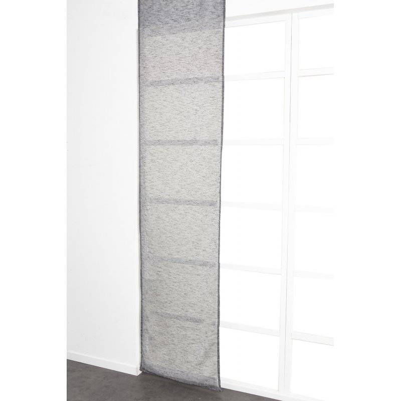 Panneau Japonais 60 x 300 cm à Scratch Grande Hauteur Effet Lin Uni Noir