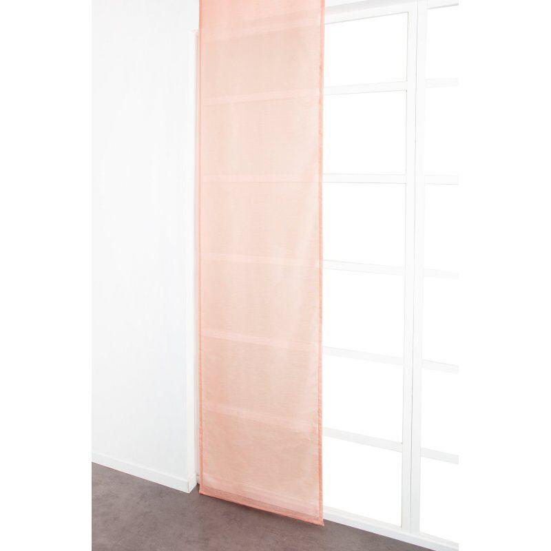 Panneau Japonais 60 x 300 cm à Scratch Grande Hauteur Effet Lin Uni Rose