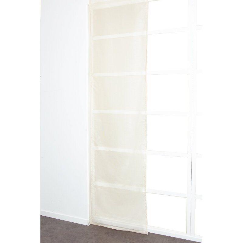 Panneau Japonais 60 x 300 cm à Scratch Grande Hauteur Effet Lin Uni Ecru