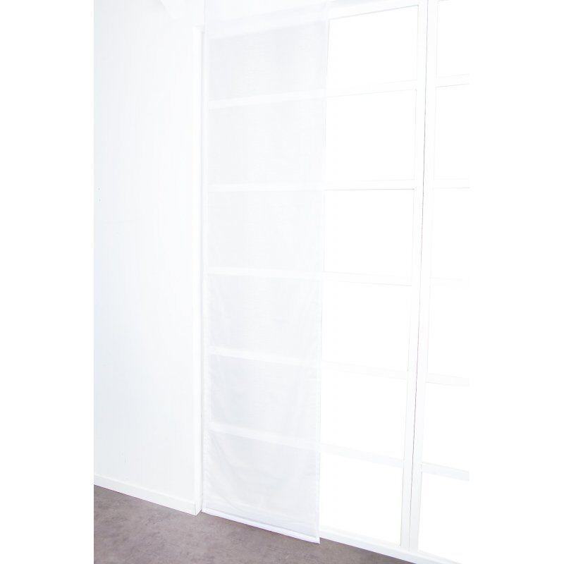 Panneau Japonais 60 x 300 cm à Scratch Grande Hauteur Effet Lin Uni Blanc