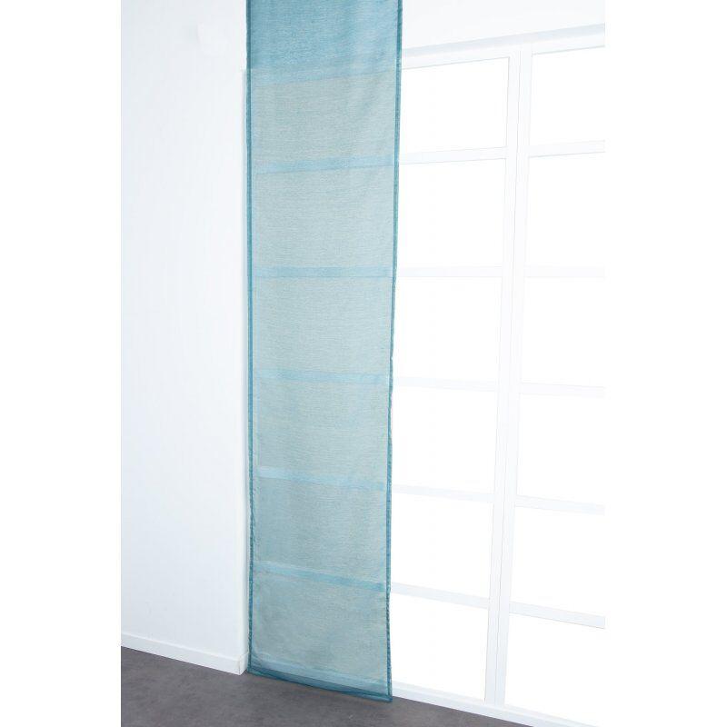 Panneau Japonais 60 x 300 cm à Scratch Grande Hauteur Effet Lin Uni Bleu