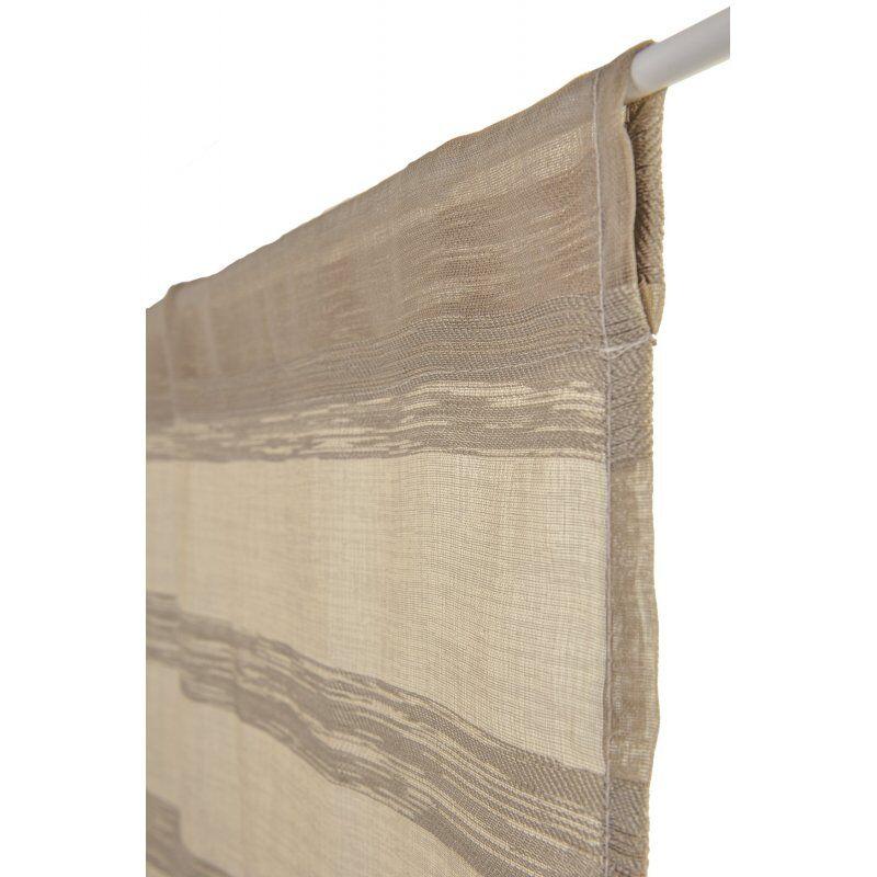 Vitrage 70 x 240 cm Rayures Rayures Horizontales Jacquardé Argile