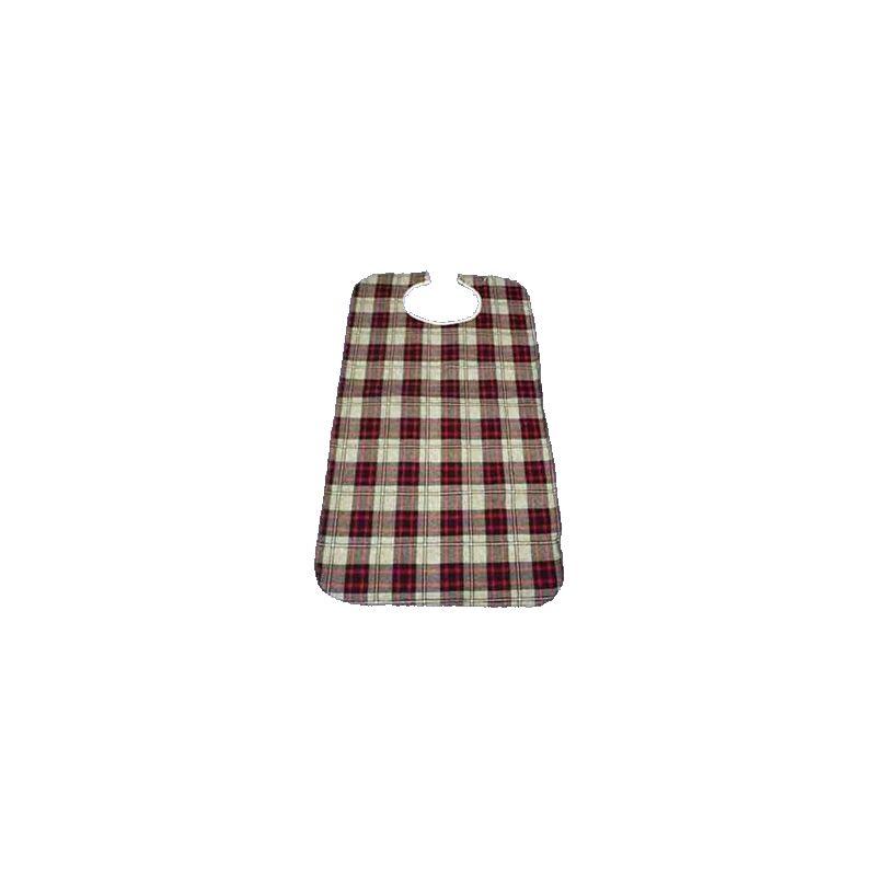 Gohy Bavoir imperméable pour adulte ecossais rouge - 45 x 90 cm