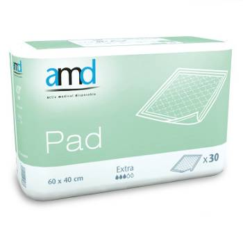 AMD Pad Extra 60 x 40 cm - 4 paquets de 30 protections