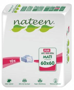 Nateen Mati Plus - 16 paquets de 10 protections 60 x 60 cm