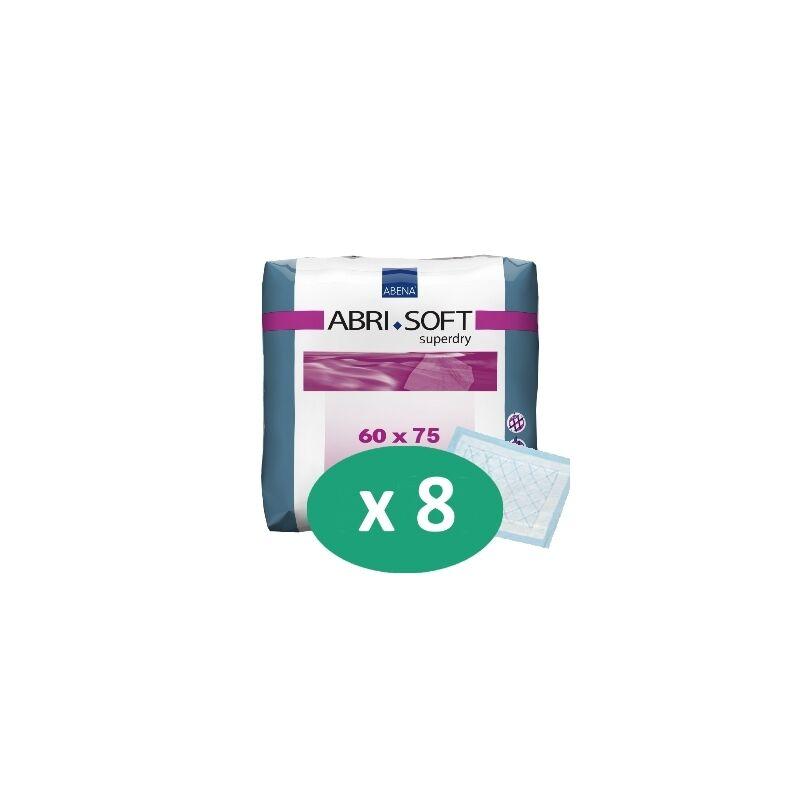 ABENA Abri-Soft SuperDry 60 x 75 cm - 8 paquets de 30 alèses
