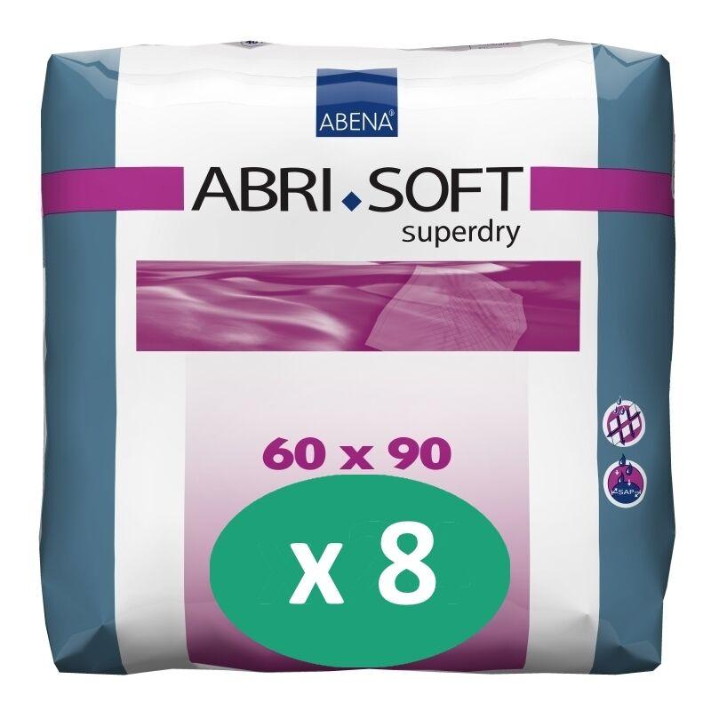 ABENA Abri-Soft SuperDry 60 x 90 cm - 8 paquets de 30 alèses