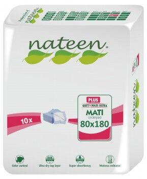 Nateen Mati Plus - 16 paquets de 10 protections 80 x 180 cm (bordable)