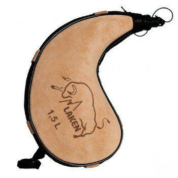 Laken Gourde basque en peau souple forme courbée Zahato 1.5L