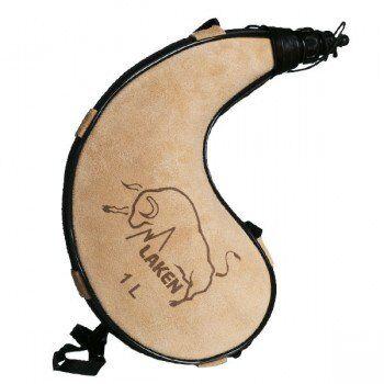 Laken Gourde en peau souple forme courbée Zahato 1 litre